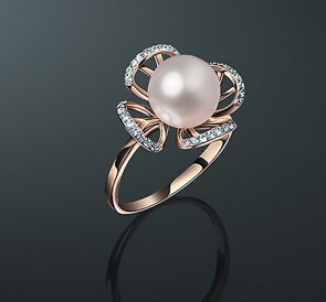 Кольца с жемчугом, купить кольцо с жемчугом в каталоге ювелирного магазина MAYSAKU, цены в городе Москва