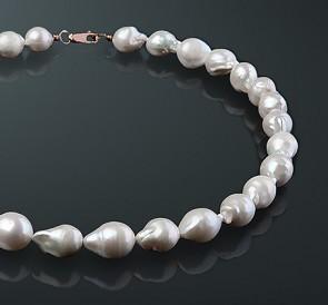 2e6c794b56d7 Ожерелье из жемчуга бб105-40з  белый пресноводный жемчуг, золото 585°