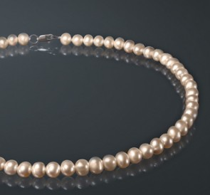Ожерелье изо жемчуга р075-с
